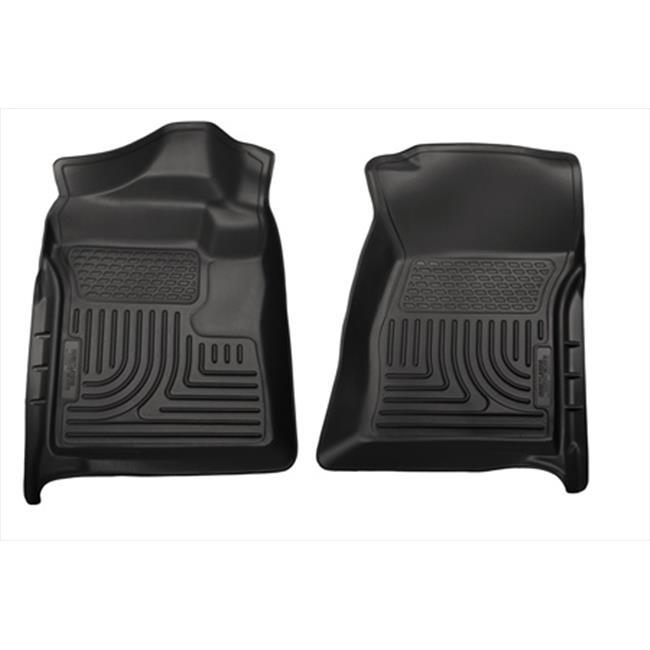 Weatherbeater Series Thermoplastic Olefin Black Front Floor Liners
