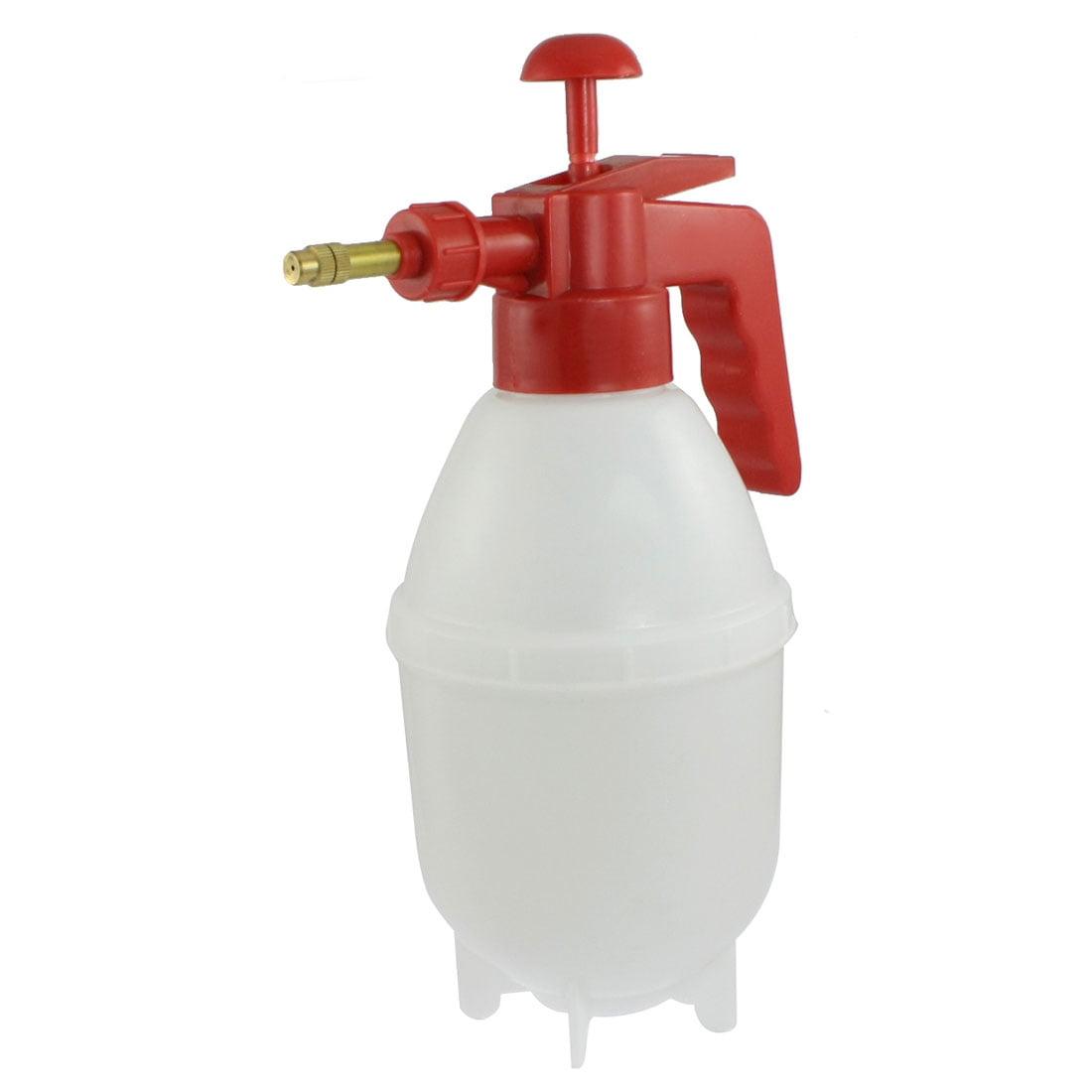 Unique Bargains Plastic Water Spray Bottle Pressurized Sprayer Red White by