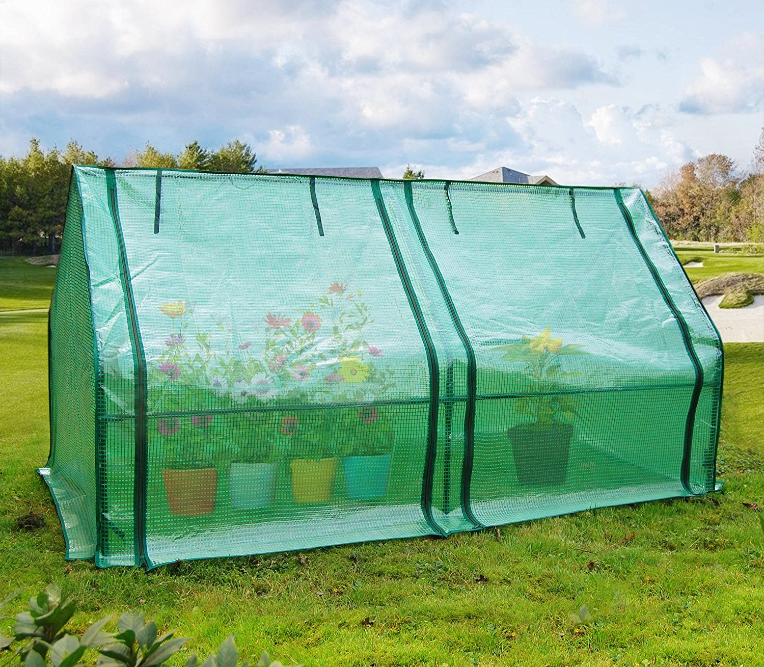 Quictent Upgraded Large Door Portable Mini Greenhouse Green Garden Hot House Grow Tent... by