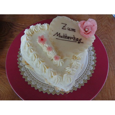 LAMINATED POSTER Buttercream Sweet Marzipan Cake Rose Mother's Day Poster Print 24 x 36