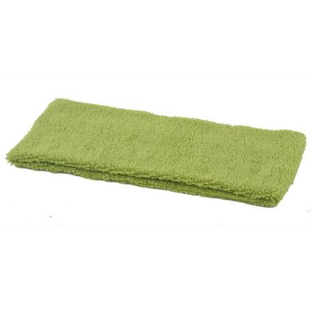 Lady Elastic Fabric Sports Exercise Headband Sweatband Hair Band Green 2pcs