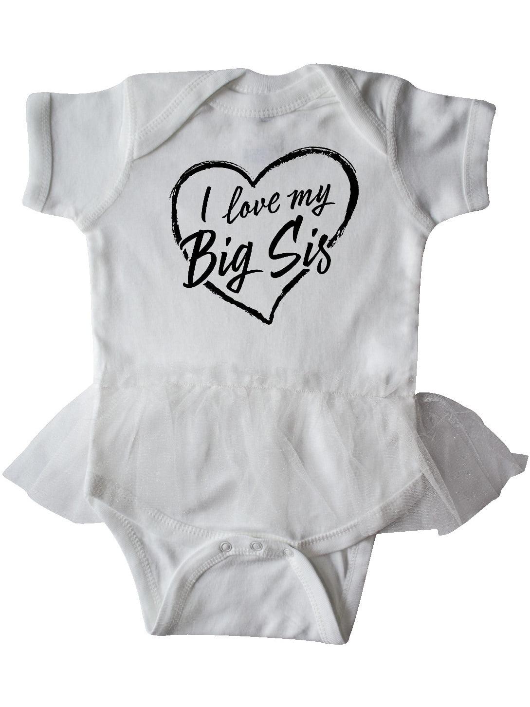 inktastic I Love My Sister Heart Health Awareness Infant Tutu Bodysuit