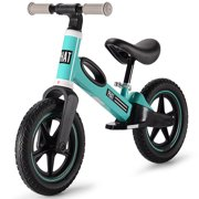 """12"""" Kids Balance Bike Toddlers Training Bike Running Bicycle for for 3-6 Year Old, Adjustable Handlebar and Seat (Green)"""