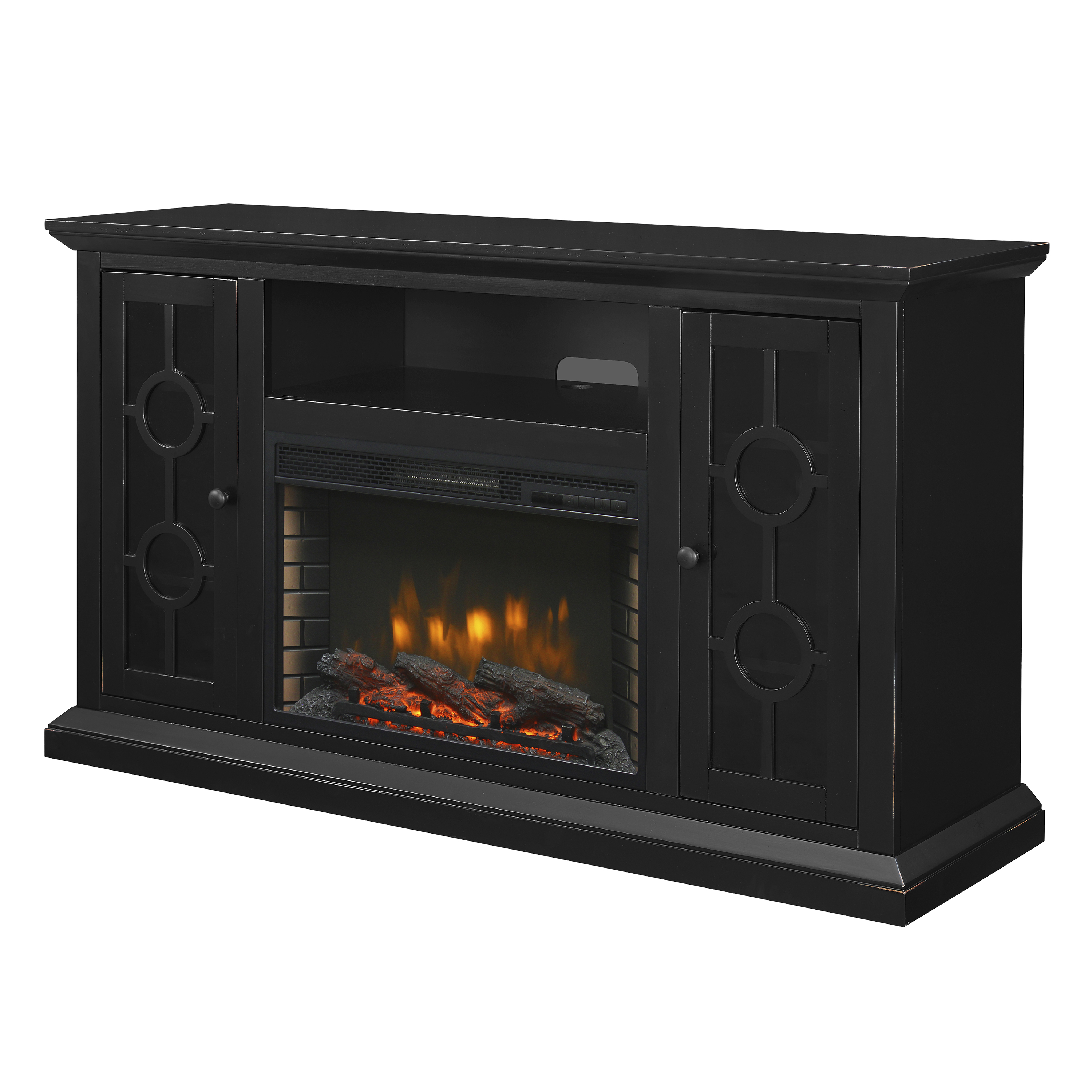 "Muskoka 370-195-86-KIT Ashby 58"" Media Electric Fireplace - Aged Black"