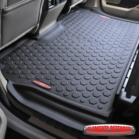 Truck Standard Cab Carpet - 2015 - 2017 Ford F-150 Floor Mats (FRONT & REAR LINERS - 100% WEATHER RESISTANT) Fits Crew Cab F150 Trucks in 2015,2016 & 2017 Models - Guaranteed Perfect Fit - Custom Tech Fitting Technology