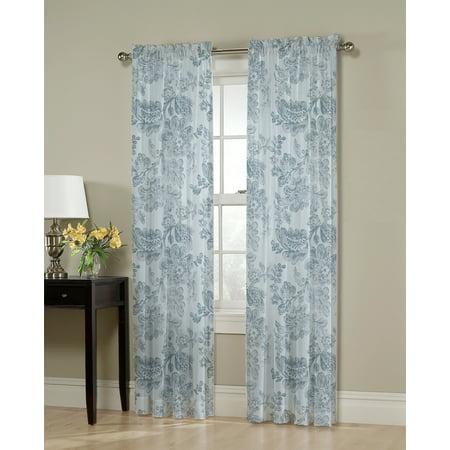 - Mainstays Adelise Floral Print Single Curtain Panel