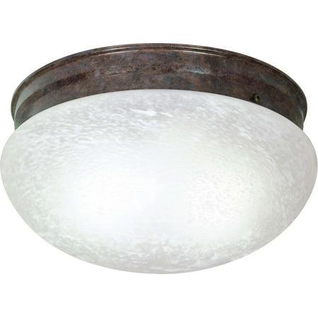 Alabaster Melon Ceiling Flush - Nuvo Lighting 60416 - 2 Light (Twist and Lock Base) 12