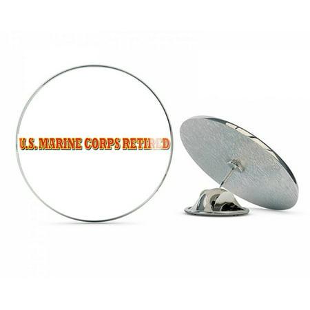 US MARINE CORPS RETIRED WINDOW  Steel Metal 0.75
