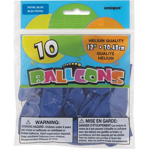 """12"""" Latex Royal Blue Balloons, 10ct"""