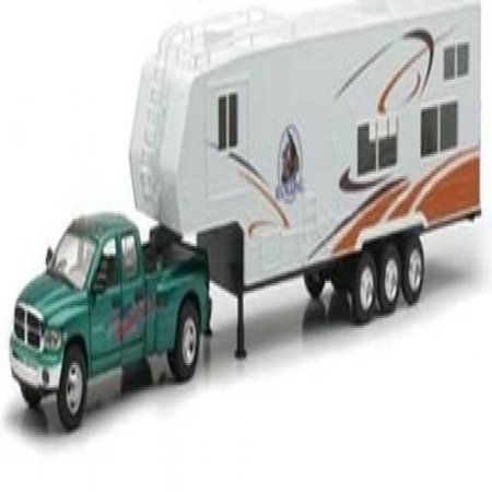 Die-Cast Pick Up Truck with 5th Wheel Camper, (Best Rv And Truck Supply)