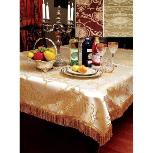 Violet Linen Prestige Damask Design Tablecloth