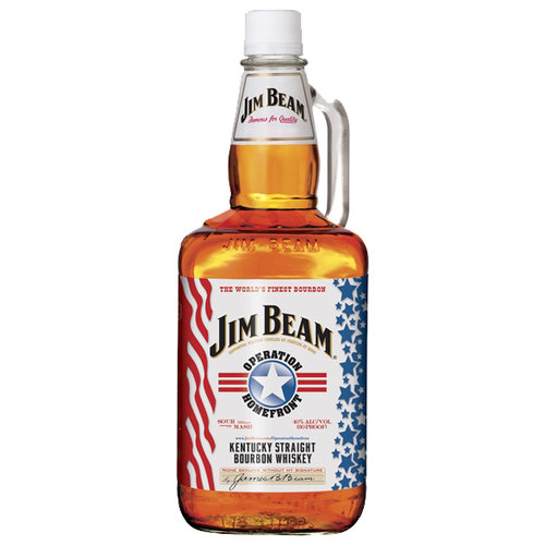 Jim Beam Operation Homefront Kentucky Straight Bourbon Whiskey, 1.75 l