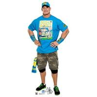 Advanced Graphics 1924 74 x 33 in. John Cena Light Blue Shirt - WWE Cardboard Standup