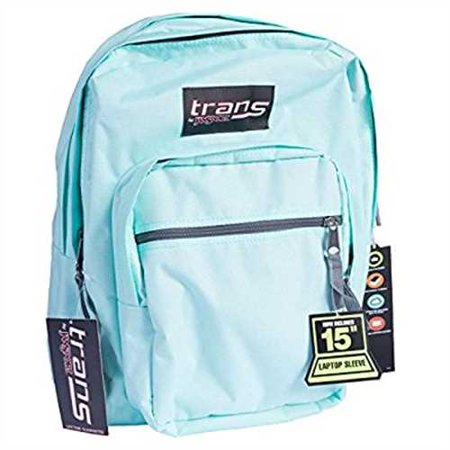 Trans by JanSport SuperMax Backpack with 15 Laptop Sleeve (Aqua Dash)