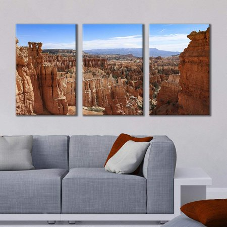 """wall26 - 3 Panel Canvas Wall Art - Majestic Natural Landscape Triptych Canvas Series - Grand Canyons - Giclee Print Gallery Wrap Modern Home Decor Ready to Hang - 24""""x36"""" x 3 Panels"""