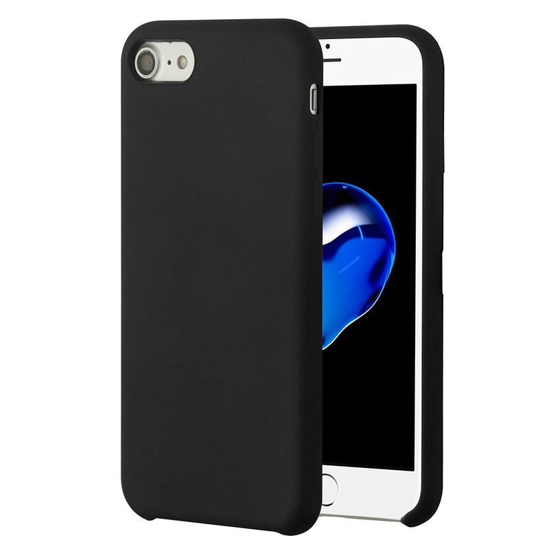 Apple iPhone 7/8 Case, by Insten Executive Protector Hard Plastic/Soft Silicone Case Cover For Apple iPhone 7/8, Black (Combo with Glass Screen Protector) - image 1 of 3