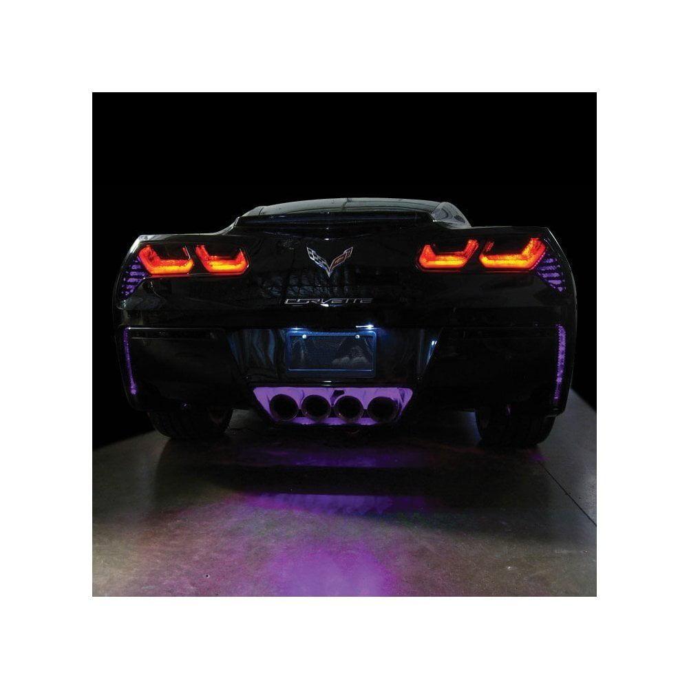 Corvette Rear Fascia/Exhaust LED Lighting Kit : C7 Stingray, Z51 (Amber Super Bright)