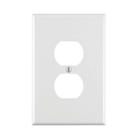 Leviton 88103 1-Gang Duplex Device Receptacle Wallplate, Oversized, Thermoset, Device Mount, - Wall Mount Wall Plate