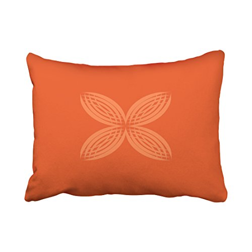 WinHome Decorative Pillowcases Pumpkin On Saffron Throw Pillow Covers Cases Cushion Cover Case Sofa 20x30 Inches Two Side