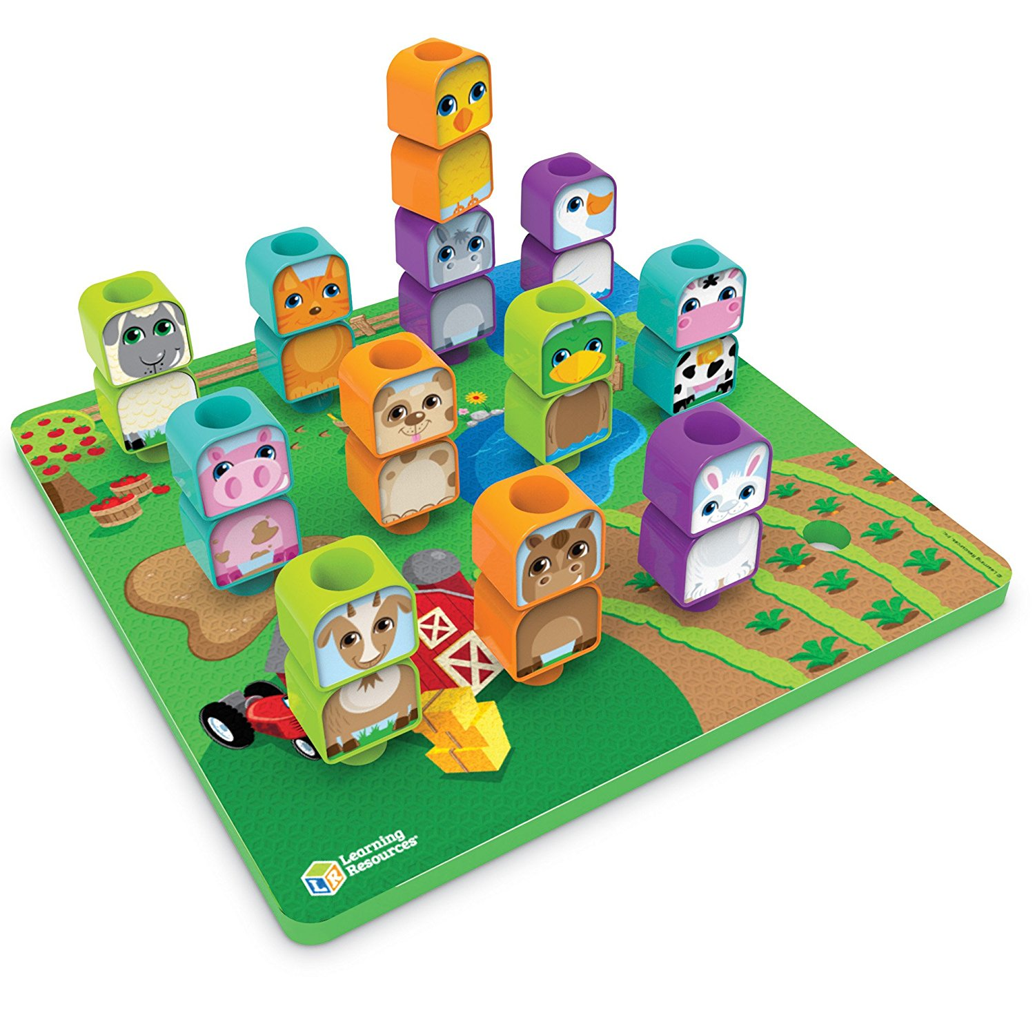 Learning Resources Peg Friends Stacking Farm