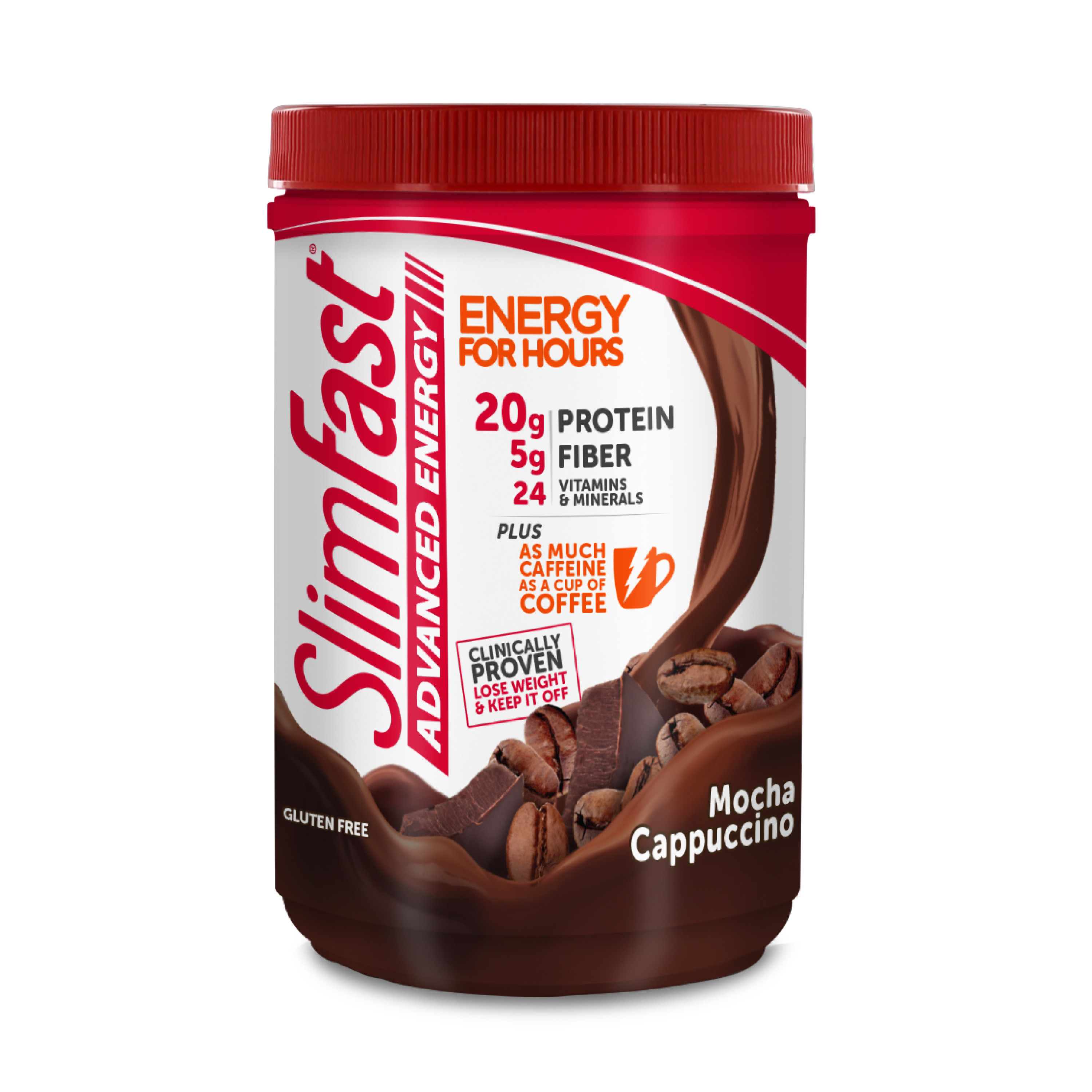 SlimFast Advanced Energy Powder Mocha Cappuccino