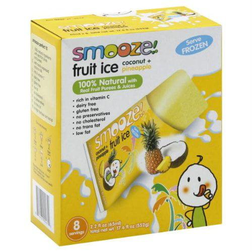 Smooze Fruit Ice Coconut + Pineapple 17.6 FZ (Pack of 12)
