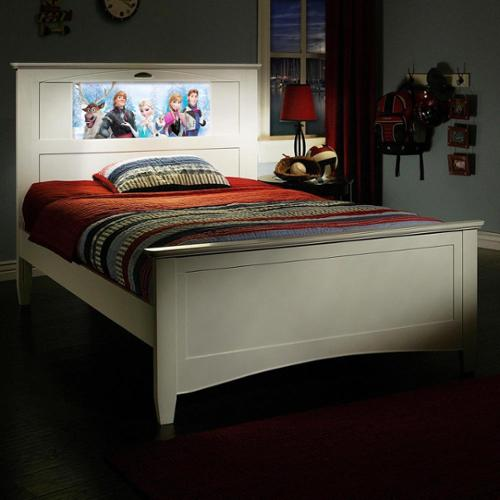 Lightheaded Beds Canterbury Satin White Full Bed With Changeable Back