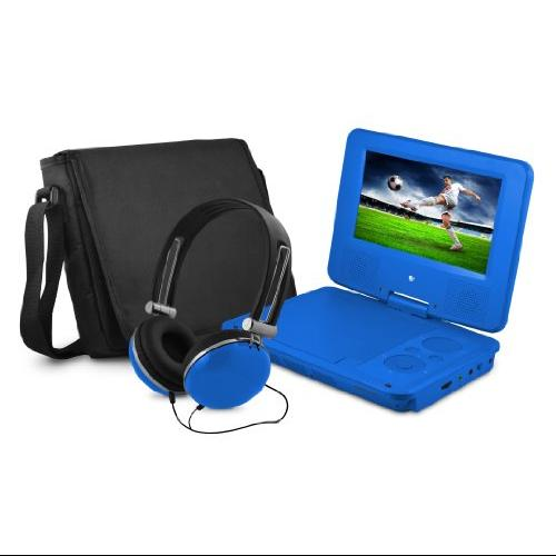 "Ematic Epd707 Portable Dvd Player - 7"" Display - 480 X 234 - Blue - Dvd-r, Cd-r - Jpeg - Dvd Video, Video Cd, Mpeg-4 - Cd-da, Mp3 - 1 X Headphone Port[s] - Lithium Polymer - 2 Hour (epd707bu)"