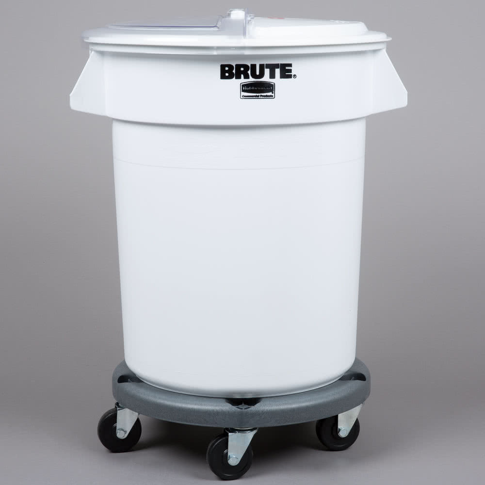 TableTop King Brute 20 Gallon Ingredient Storage Bin and Dolly Kit with 3 Cup Measuring Scoop & TableTop King Brute 20 Gallon Ingredient Storage Bin and Dolly Kit ...