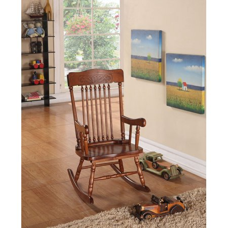Superb Simple Relax Kloris Collection Youth Kids Children Wood Cute Rocking Chair In Tobacco Finish Creativecarmelina Interior Chair Design Creativecarmelinacom