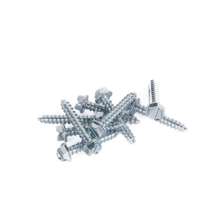 DC Cargo Mall 1.5 Inch Long E Track Trailer Tie-Down Rail Mounting Wood Screws With Hex Washer Head (10 Pack)