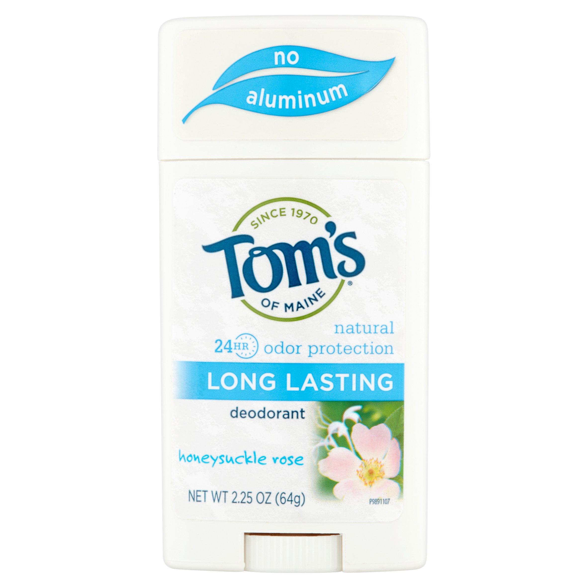 Tom's of Maine Honeysuckle Rose Deodorant, 2.25 oz