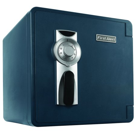First Alert 2092F Waterproof And Fire Resistant Bolt Down Combination Safe  1 3 Cubic Feet