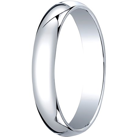 Mens Platinum, 4.0mm Traditional Dome Oval Wedding Band
