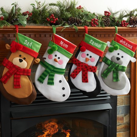 Personalized Christmas Stocking Available In Different Animals (Small Christmas Stockings)
