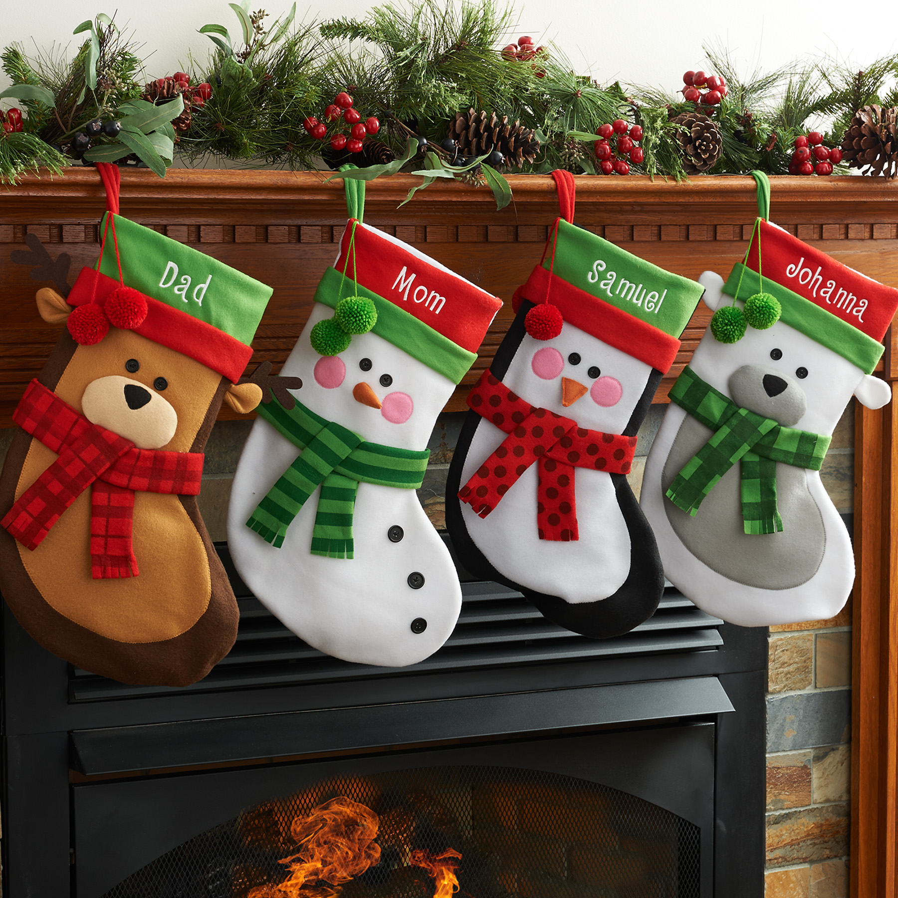 Personalized Christmas Stocking Available In Different Animals