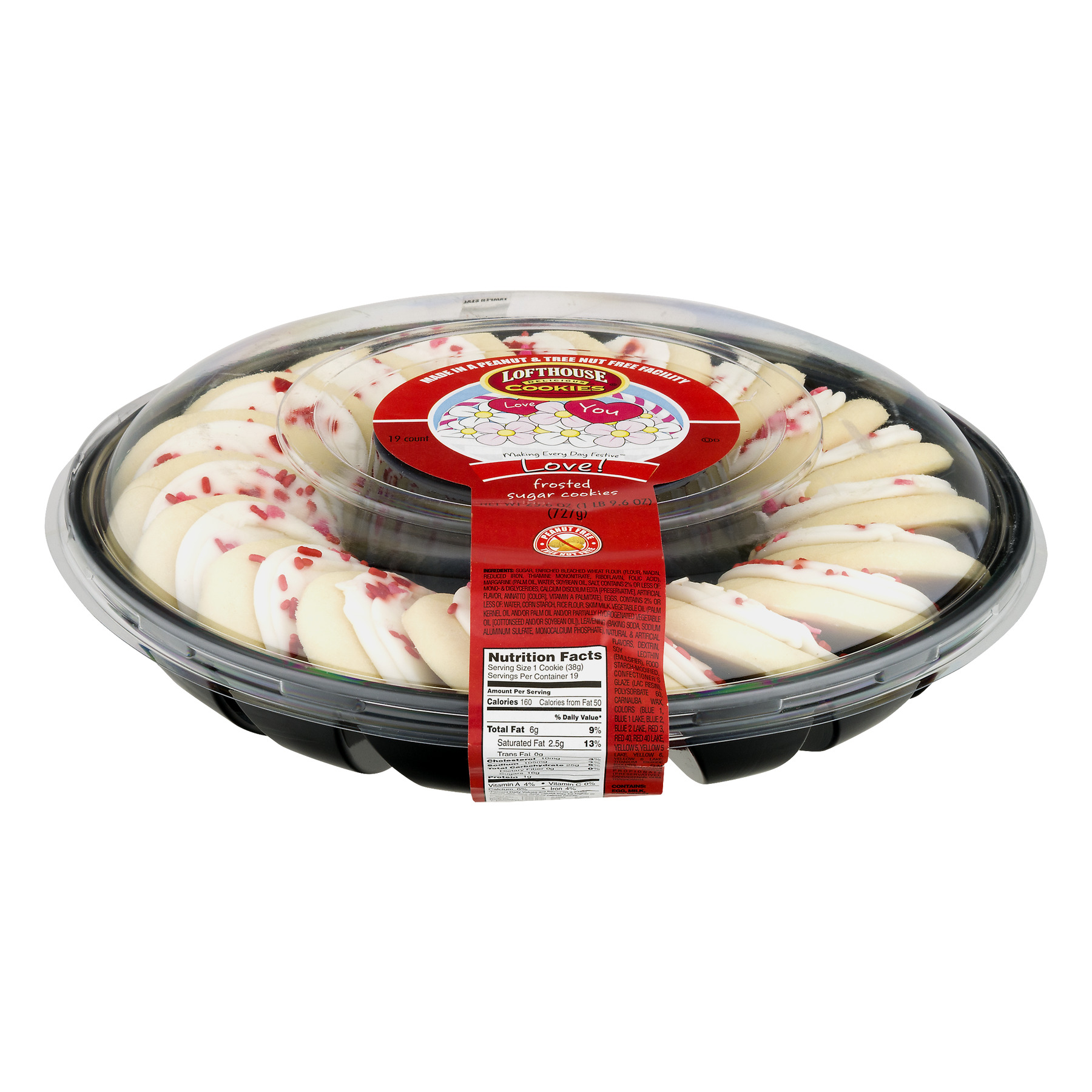 Lofthouse Love! Frosted Sugar Cookies, 25.6 OZ