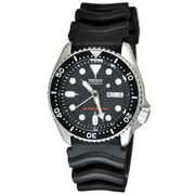 Seiko Men's Diver's Automatic Black Dial Rubber Band Watch SKX007K