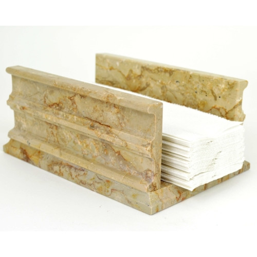 Nature Home Decor Sahara Beige Marble Standing Napkin Holder
