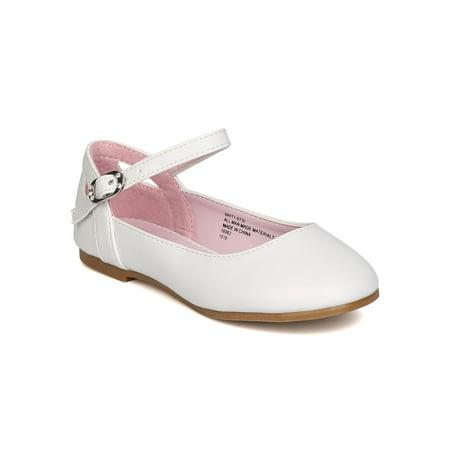 Little Angel GB42 Girls Leatherette Ankle Strap Cut Out Ballet Flat (Toddler Girl / Little Girl / Big Girl)
