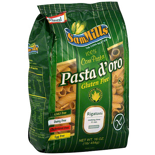Sam Mills D'oro Rigatoni Corn Pasta, 16 oz (Pack of 6)