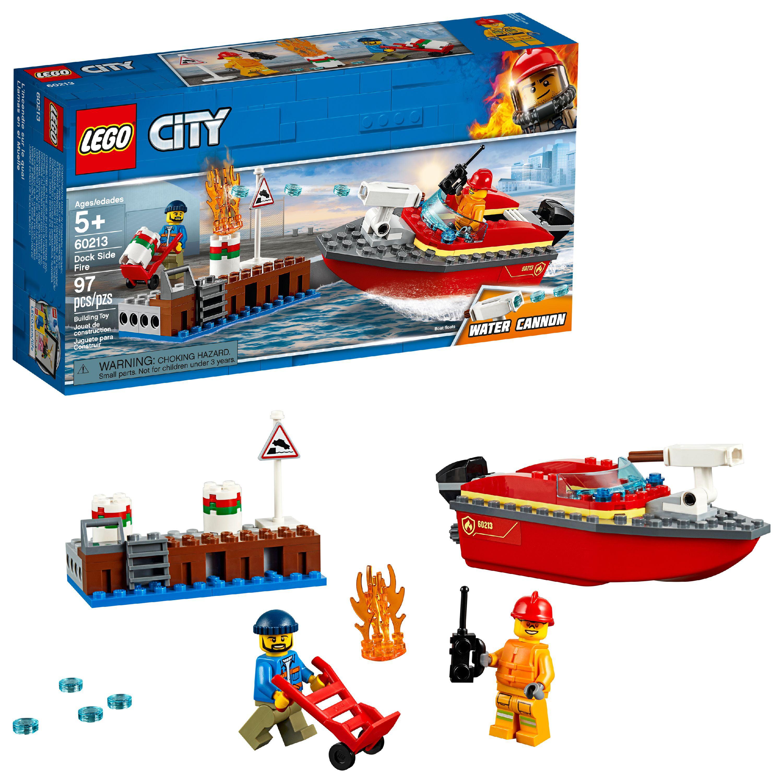 LEGO City Fire Dock Side Fire 60213 Fireboat Rescue Ship
