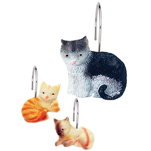 Carnation Home Fashions Kitty Heaven Shower Curtain Hooks (Set of 12)