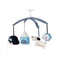 Kids Line Road Map Plush Brahams Lullaby Musical Crib Mobile Blue