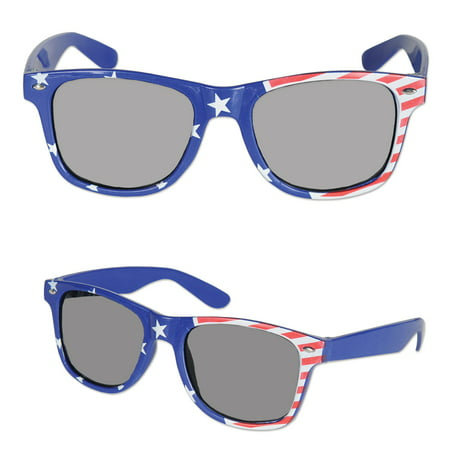"Pack of 6 Stars and Stripes Patriotic Party Sunglasses 6"" - Patriotic Sunglasses"