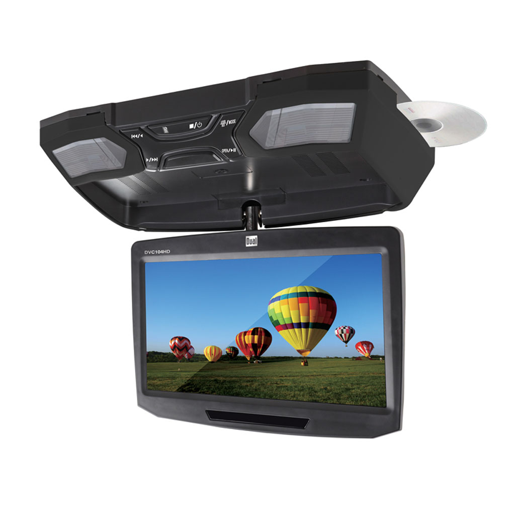 "Dual DVC104HD 10.1"" Flip Down Usbdvd With Hdmi Input"