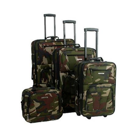 Rockland Journey 4pc Expandable Luggage Set - Camo