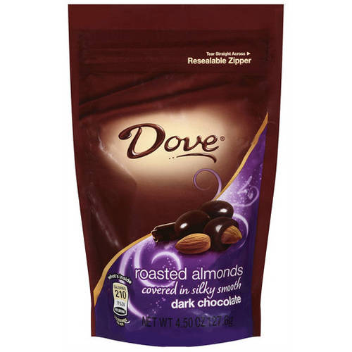 DOVE Dark Chocolate Almond Candy Bag, 5.5 oz by MARS, INC.