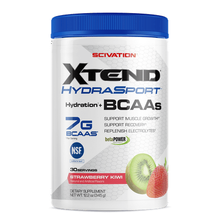 Scivation Xtend Hydrasport BCAA Powder, Strawberry Kiwi, 30