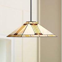 "Robert Louis Tiffany Capistrano 20"" Wide Warm Art Glass 3-Light Pendant Light"